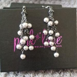 Dove Grey Pearl Chandelier Earrings by Park Lane